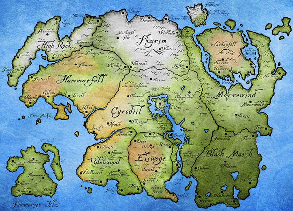 How much of Tamriel is currently visitable in The Elder Scrolls ...