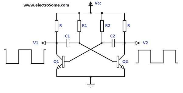 Circuit Diagram Of Led Flasher | Why If Led Flasher Circuit Is Symmetric One Of The Leds Starts To