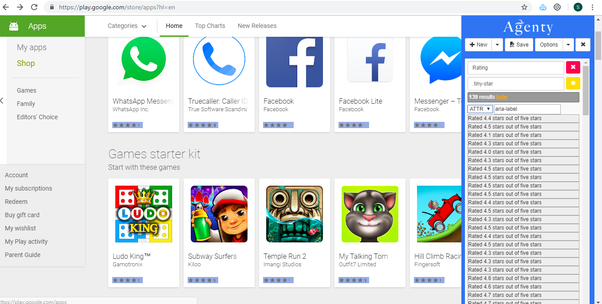 Can you scrape reviews on Google Playstore or Apple Appstore