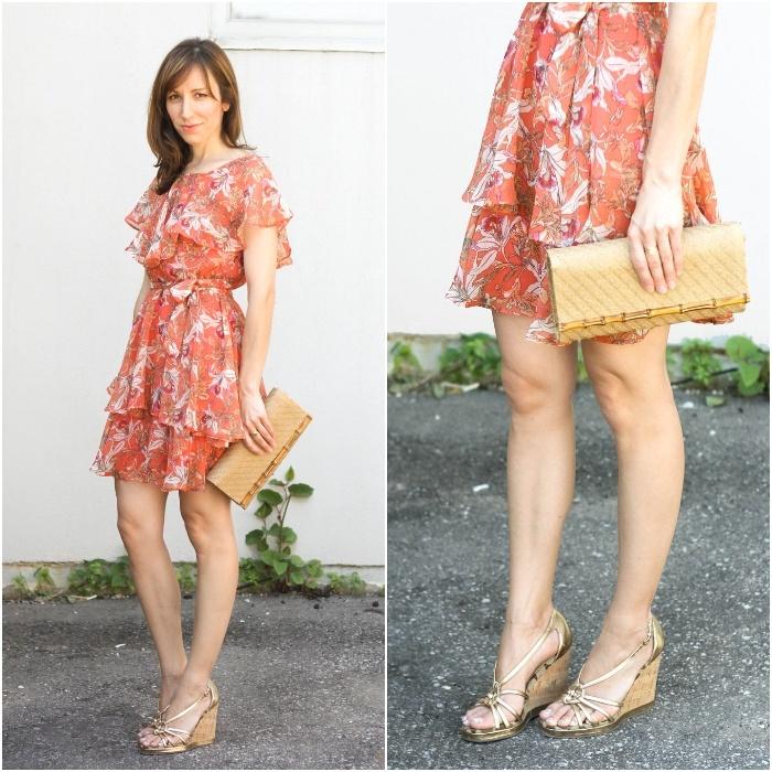 Orange Shoes Dress