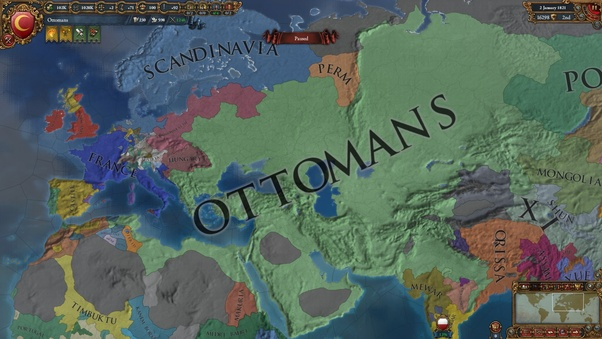 can you colonise the new world as the ottoman empire in eu4 what
