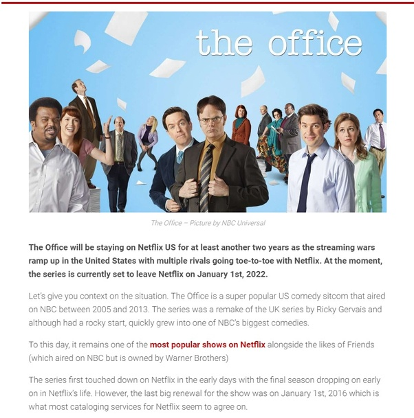 Why is Netflix cancelling The Office? - Quora