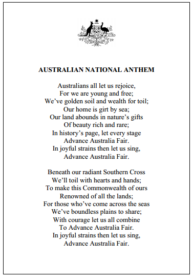 what does the national anthem sound like in your country quora