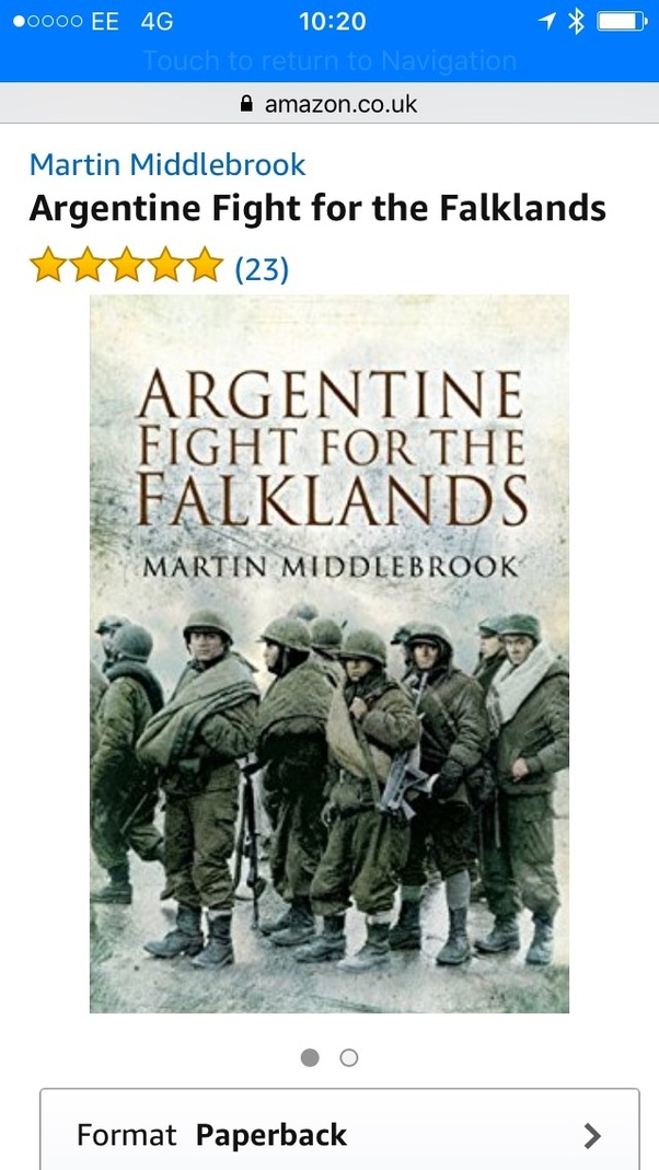 Can you recommend a good book on the Falklands war? - Quora