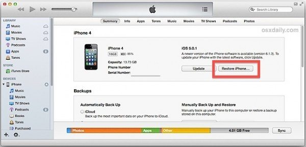 iphone restore password how to factory reset an iphone 4 without a passcode quora 6243