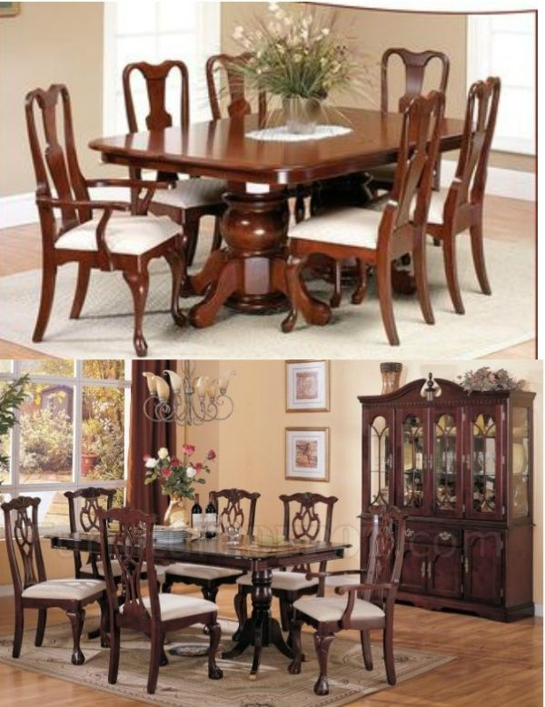 Formal Dining Rooms Purchased As Sets Are Usually Style Such Queen Anne Or Chippendale