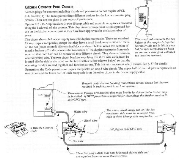 Break Tab Wiring Multiple Outlets - Lir Wiring 101 on
