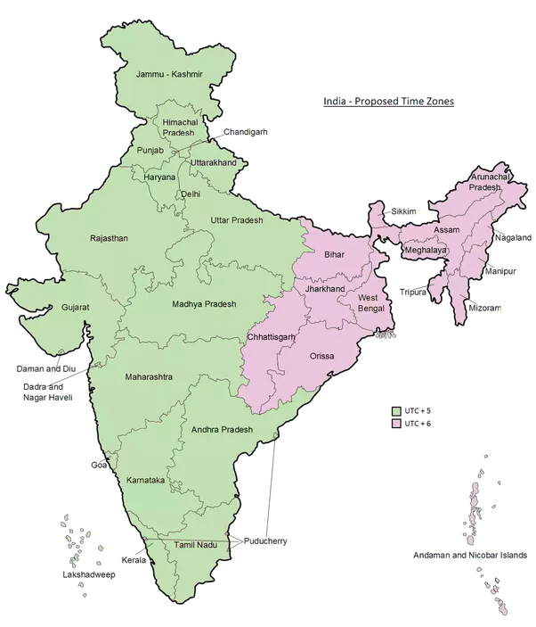 Should india have multiple time zones what would be the cost of in my opinion india should have two time zones as follows gumiabroncs Choice Image