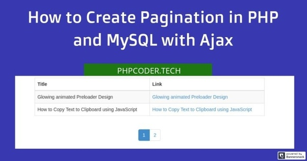 How to set Dynamic Pagination in jQuery if am using PHP