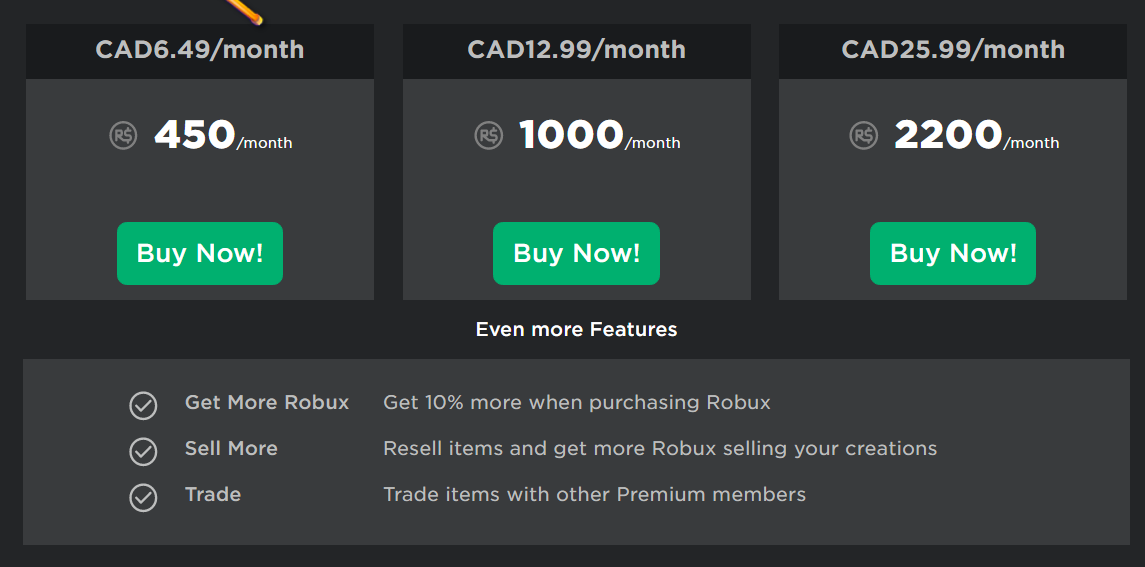 How To Buy The New Roblox Premium Membership Quora