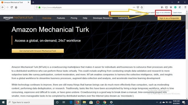 How to earn money with the help of Amazon mechanical Turk