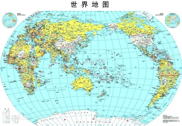 What is the map of the world like in your country quora of the map chinese version gumiabroncs Image collections