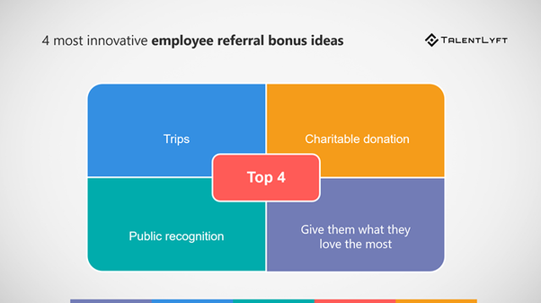 How should a company reward an employee in a referral