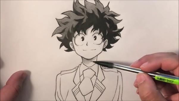 How To Draw Izuku Midoriya Quora
