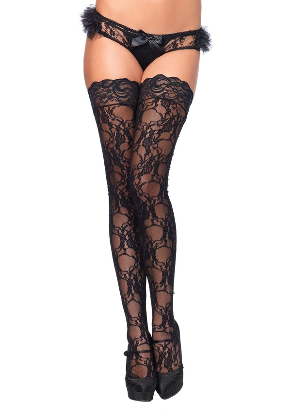 7a119473f52 I especially LOVE wearing lace floral and fishnet thigh-highs.