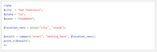What does compact() do in Laravel? - Quora