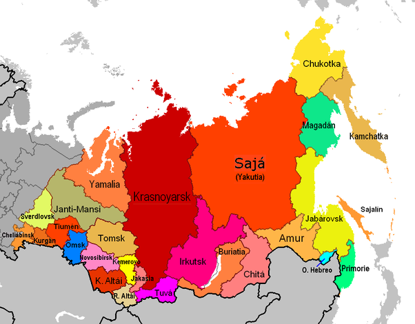 In The Russian Map Wheres Siberia Quora - Russian map