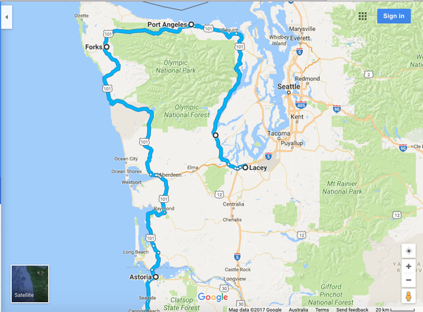 Can You Travel The USA Without The Use Of Interstate Highways - Google Maps Us 101