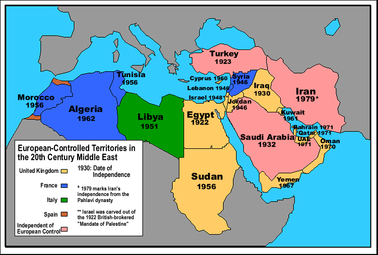 Middle East Map With Countries.Did The Europeans Colonize Middle Eastern Countries Like East Asia