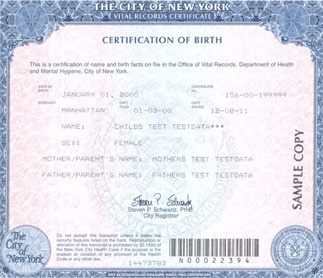 What Does A New York Birth Certificate Look Like Quora