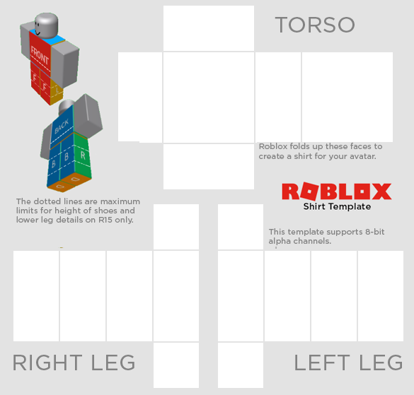 where can i find a template for roblox clothes