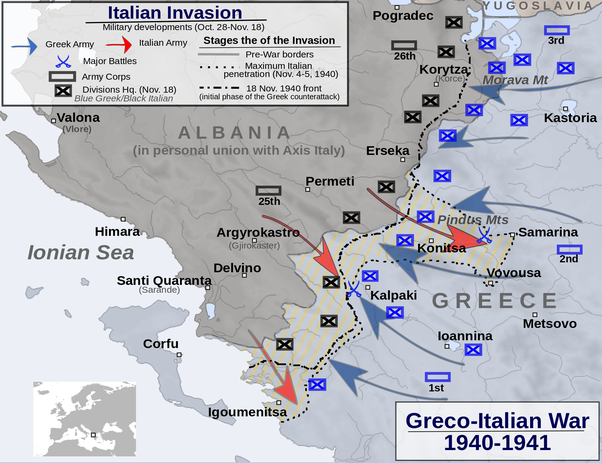 Why did the italian military do so poorly in wwii quora however the julia division was able to advance pretty far into greek territory reaching vovousa and samarina getting very close to major greek towns like gumiabroncs Images