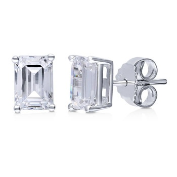 1305542ae What are the best simulated or clear emerald diamond earrings that ...