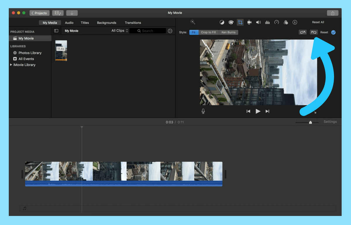 What is the easiest way to reformat horizontal video for
