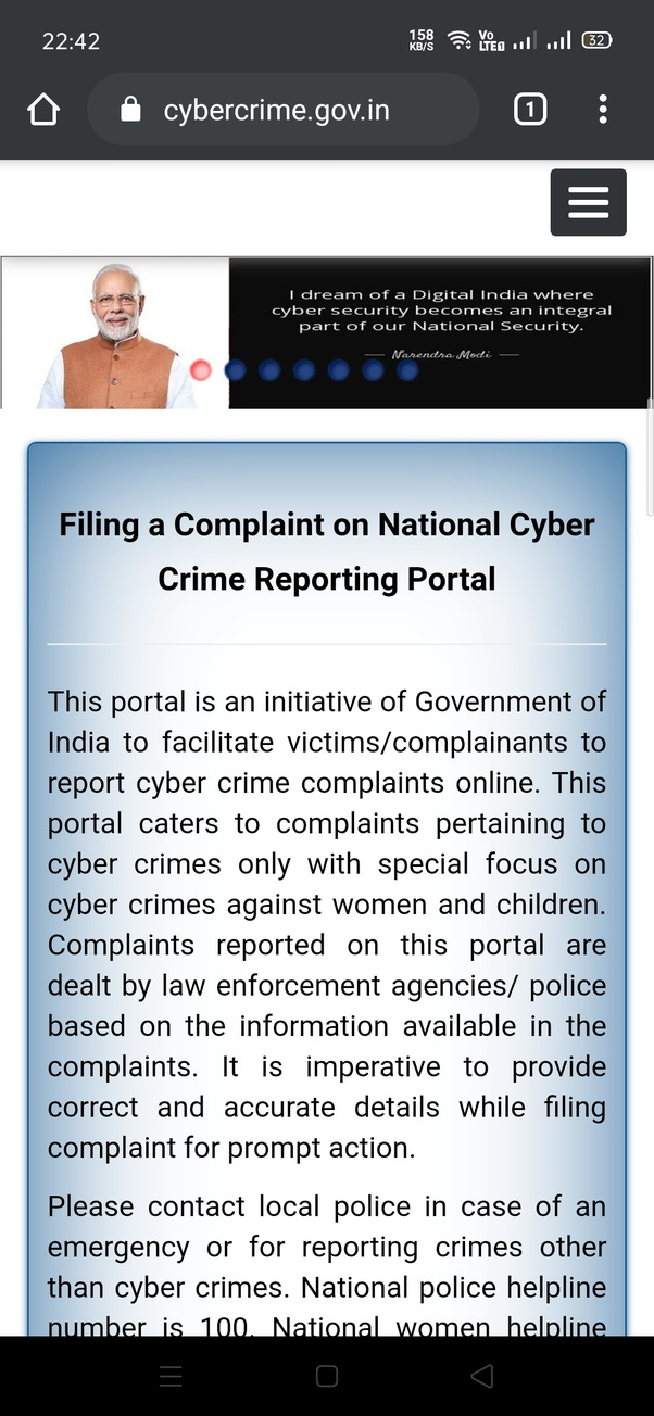 How To File An Online Complaint For Cyber Crime Quora