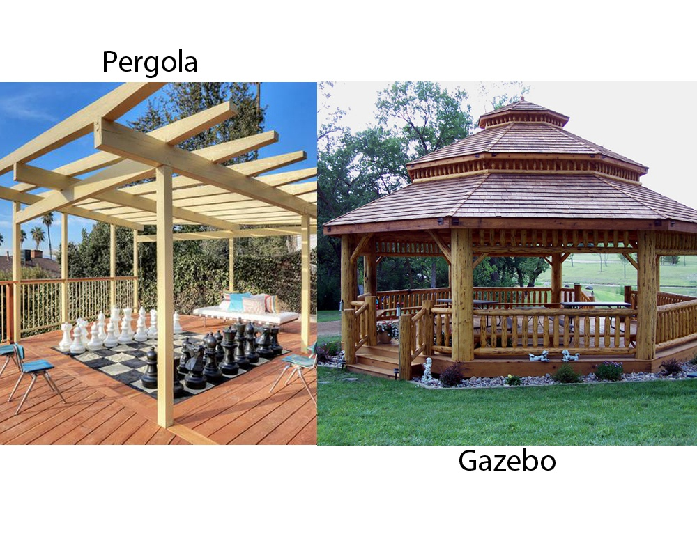 A pergola is a structure that is also built in backyards of home wherein  you'll get the personal space. It is a pillared structure supporting cross  beams. - What's The Difference Between A Gazebo And A Pergola? - Quora