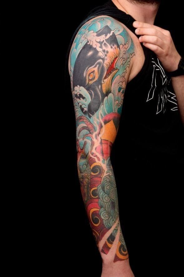 Is it illegal to get a whale tattoo on the arms quora for How much does a full sleeve tattoo cost