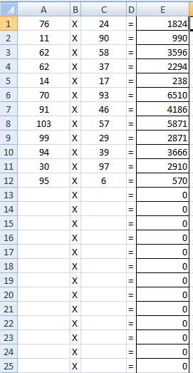 how to create a multiplication worksheet on excel quora. Black Bedroom Furniture Sets. Home Design Ideas