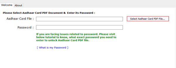 What Password Is Required To Aadhaar Card Pdf