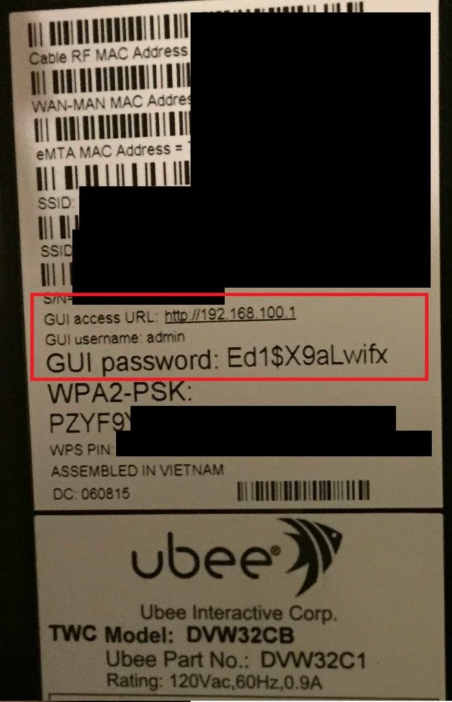 How to get to the router settings on an Ubee - Quora