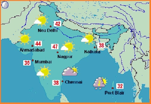 Which is best website for weather forecast in India? - Quora on india reference map, india climate map, india neighborhood map, india population growth map, india rain map, india overpopulation map, india geography map, india electricity map, india flood map, india main cities map, india seasons map, india europe map, india temperature map, india landscape map, india clothing map, india town map, india education map, india pollution map, india agriculture map, india monsoon map,