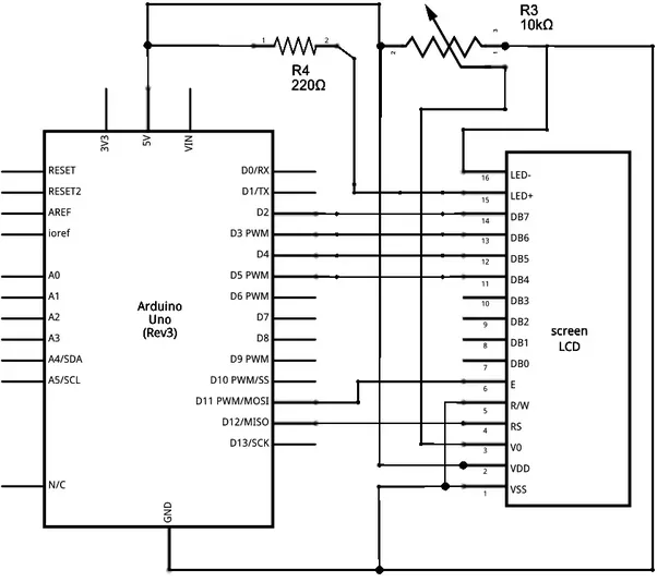 How To Connect Lcd 16x2 To Uno Analog Pins