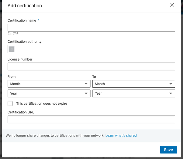 How To Add A Google AdWords Certification To LinkedIn In