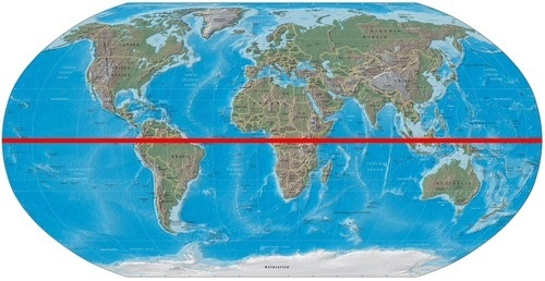 Why do 90 of the population live north of the equator quora you see that red line thats the equator the imaginary line the separates the north and the south compared to the north how much area is covered with gumiabroncs Image collections