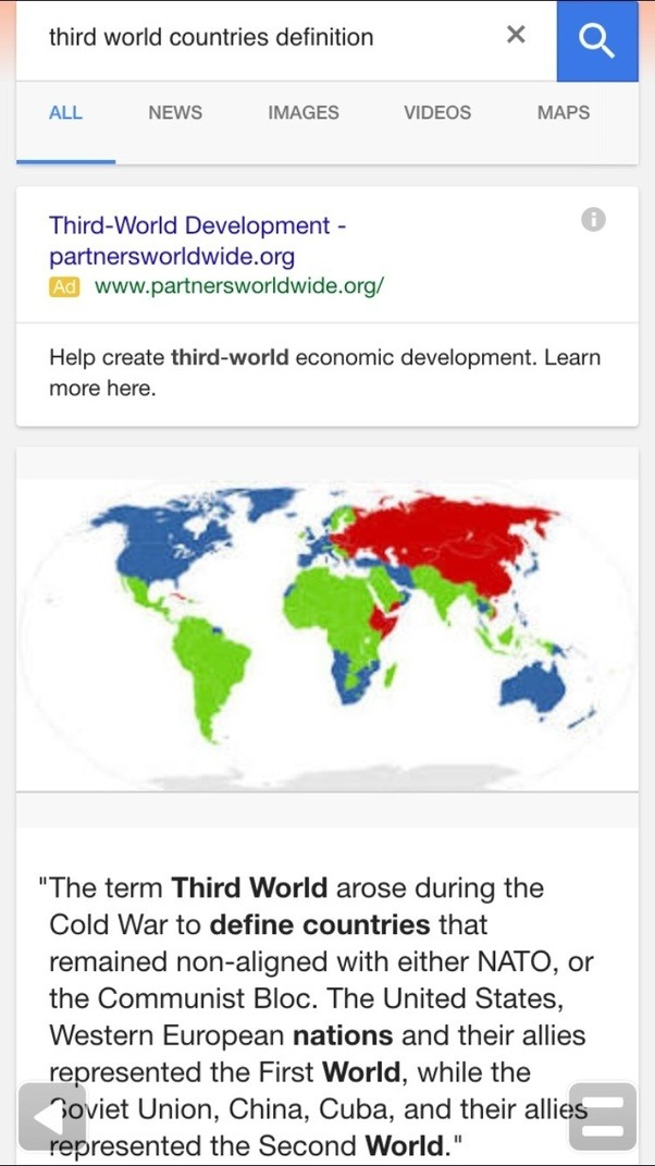 Can bangladesh be considered a third world country quora here is the screenshot of google search for third world countries definition gumiabroncs Gallery