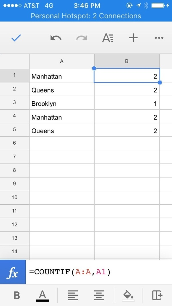 how to find the frequency of all words in one column on google