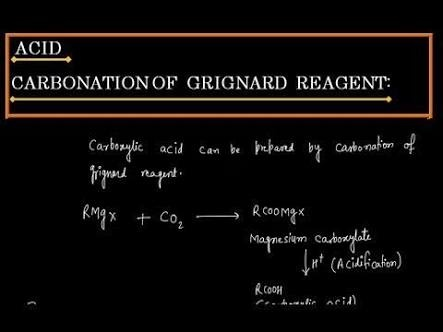 What is the carbonation of Grignard Reagent? - Quora