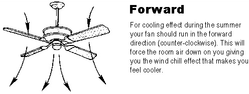 Ceiling Fans Rotate Anticlockwise