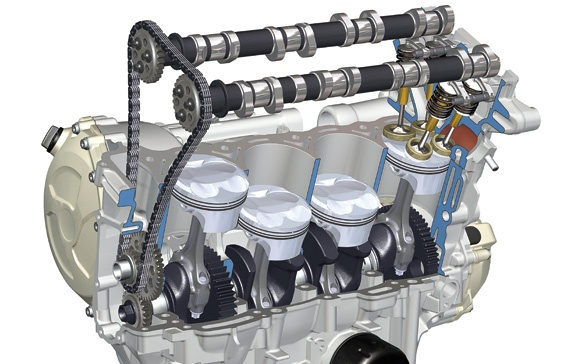 Just Something More Following Is An Image Of Inline 4 I4 Engine With Dual Overhead Camshaft Dohc And A Chain Driven Timing Belt