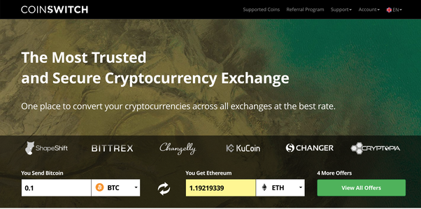 Which cryptocurrency exchange offers the best rate