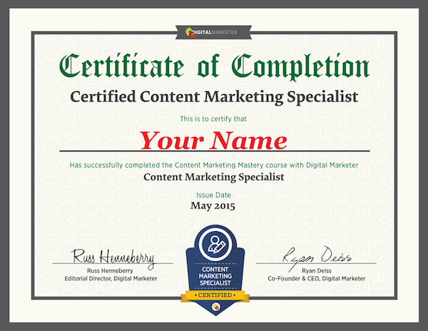 Where can i find the best online digital marketing courses i want the digitalmarketer certified content marketing specialist program is available to everyone it is comprised of six modules of training six quizzes fandeluxe Choice Image