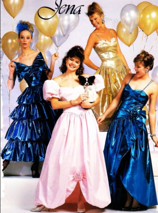 modern prom dresses compared to decades