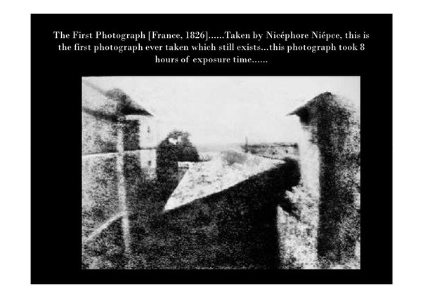 What was the first photograph ever taken? - Quora