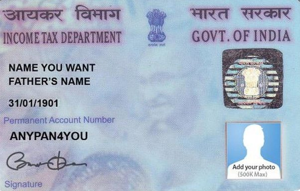 can a pan card have your husband u0026 39 s name on it