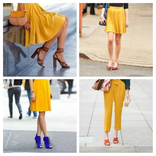 What Colour Shoes Should I Wear With A Mustard Dress?