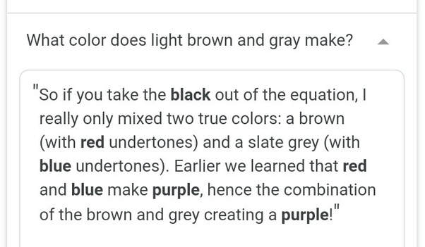 Conclusion After Carefully Stus The Following Above Paragraph We Concluded That Rather Than Get A New Color By Mixing Purple And Gray